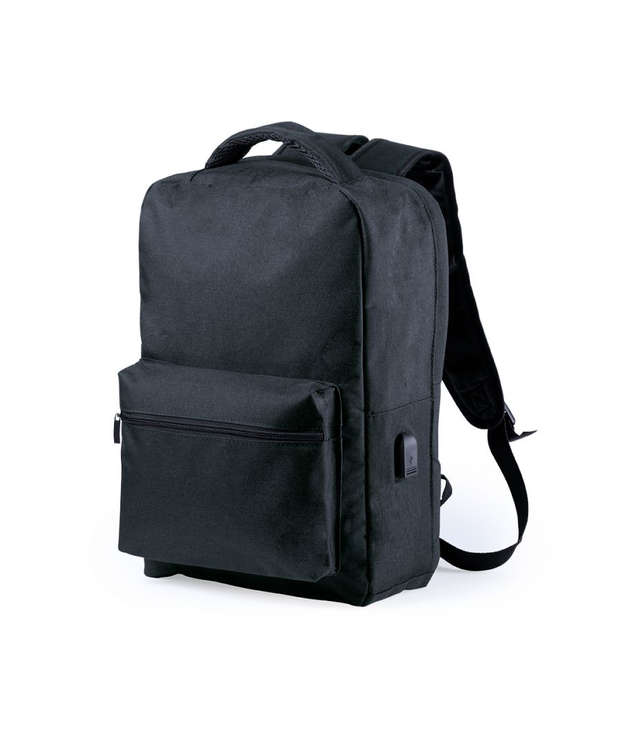 Image for Anti-theft Backpack with USB and Tablet and Laptop Compartment Smartek SMTK-6345 Black