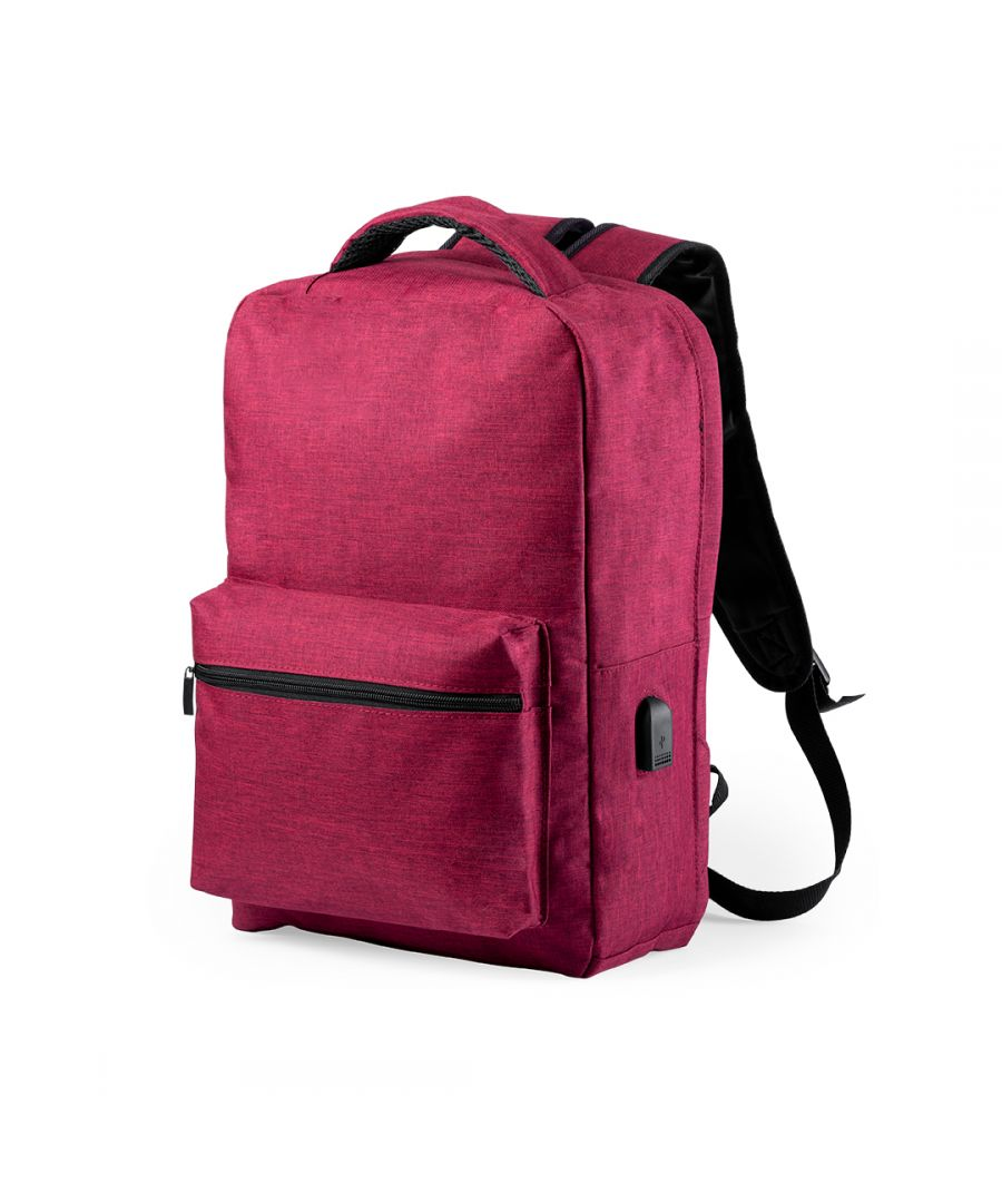 Image for Anti-theft Backpack with USB and Tablet and Laptop Compartment Smartek SMTK-6345 Red