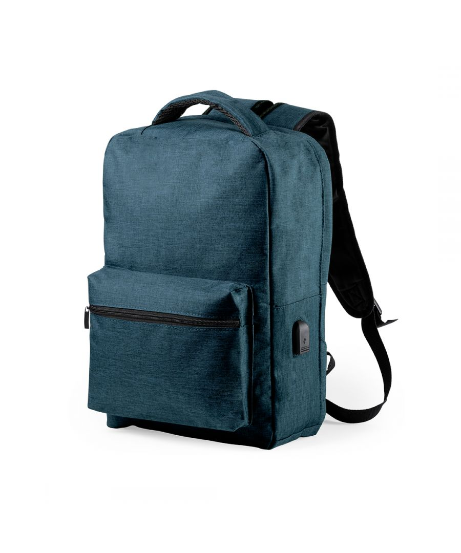 Image for Anti-theft Backpack with USB and Tablet and Laptop Compartment Smartek SMTK-6345 Marine