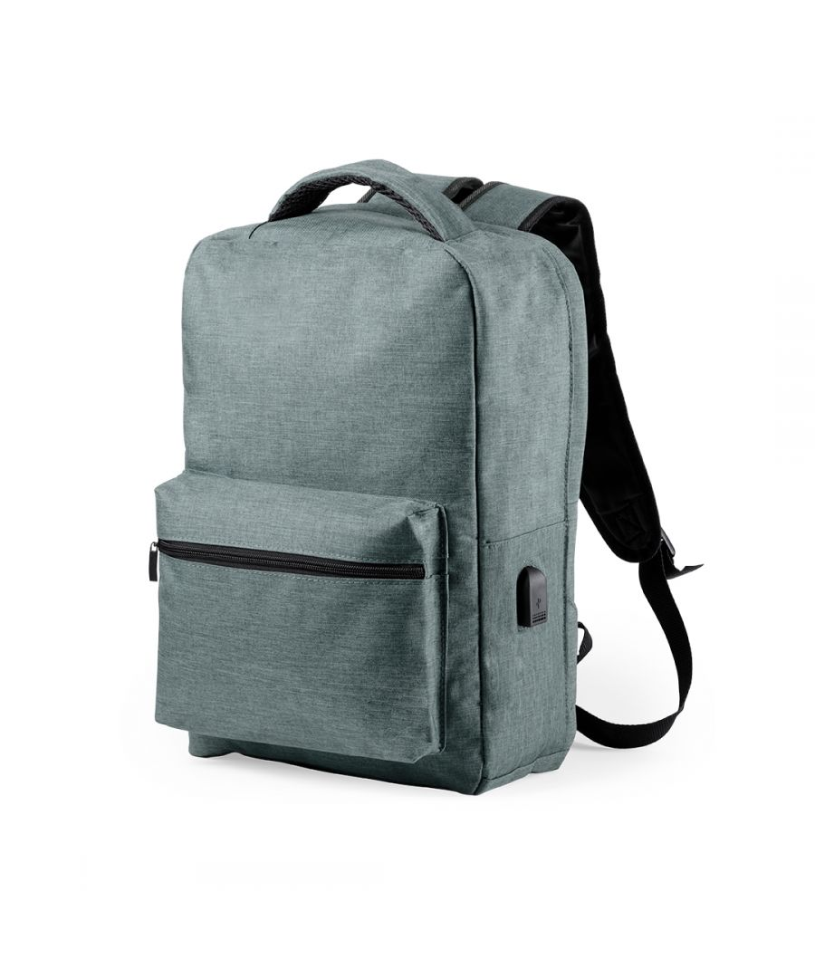 Image for Anti-theft Backpack with USB and Tablet and Laptop Compartment Smartek SMTK-6345 Grey