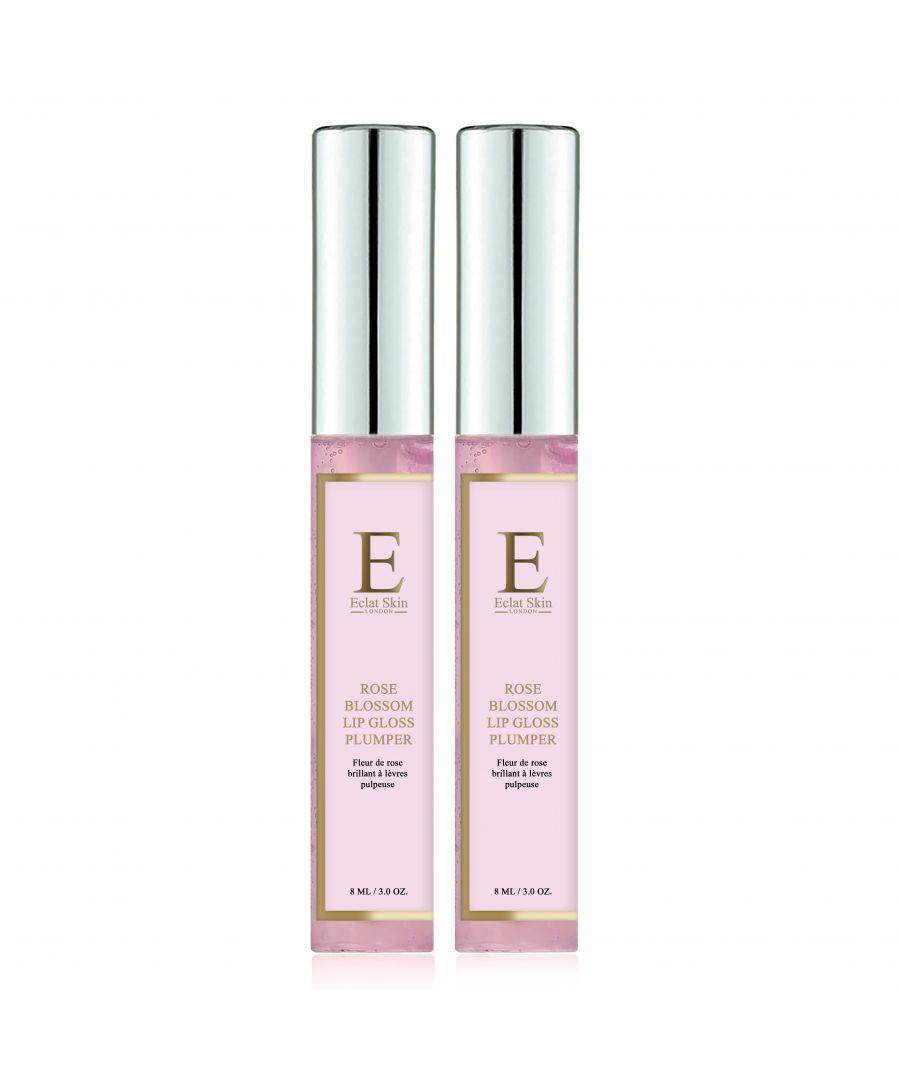 Image for 2X Rose Blossom Lip Gloss Plumper 8ml