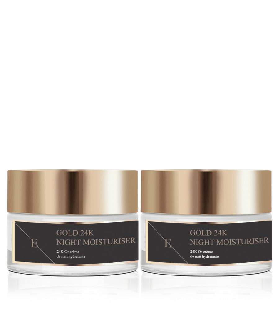Image for 2x Anti-Wrinkle Night Moisturiser 24K Gold