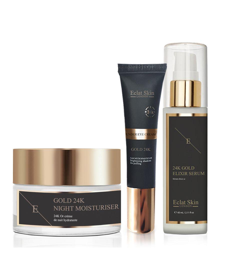 Image for Anti-Wrinkle Elixir Serum 24K + Anti-Wrinkle Night Moisturiser 24K Gold + Under Eye Cream 24K Gold