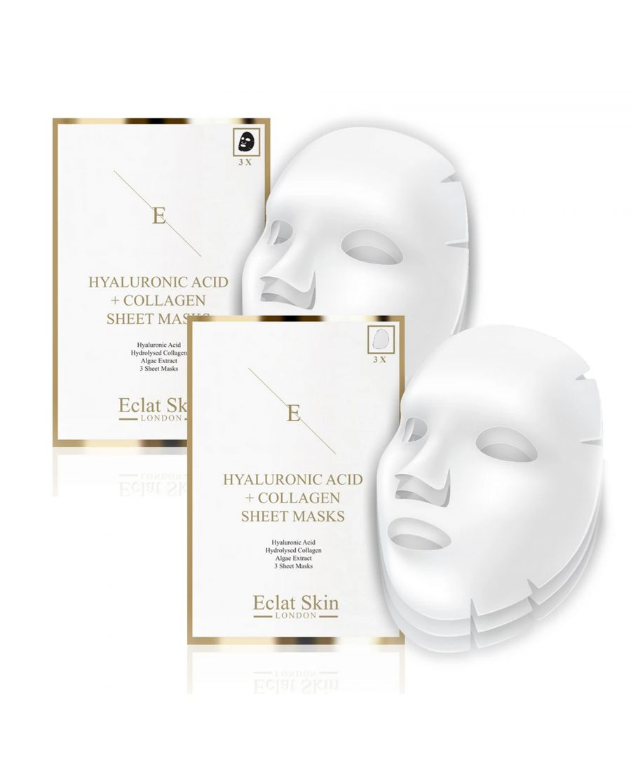 Image for 2x Hyaluronic Acid & Collagen Mask - 3 Sheets