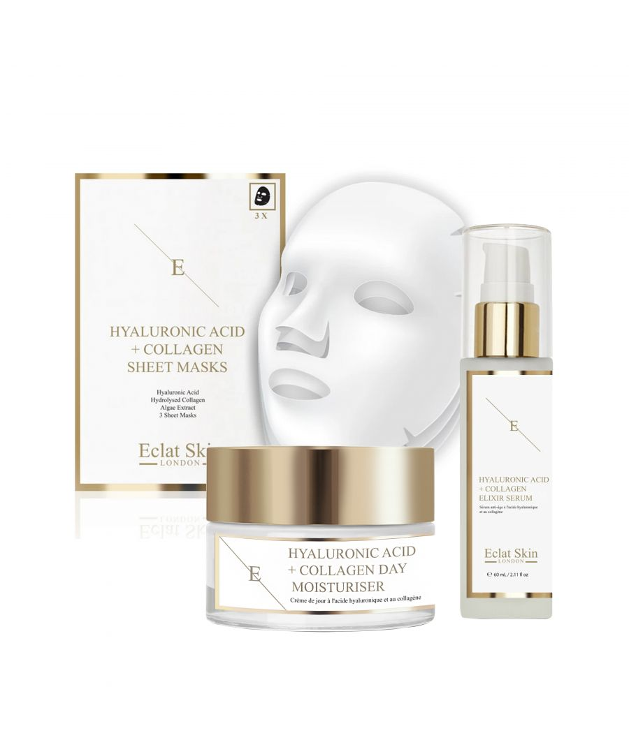 Image for Hyaluronic Acid & Collagen Amino Acids Day Cream + Hyaluronic Acid & Collagen Serum - 60ml + Hyaluronic Acid & Collagen Mask - 3 Sheets