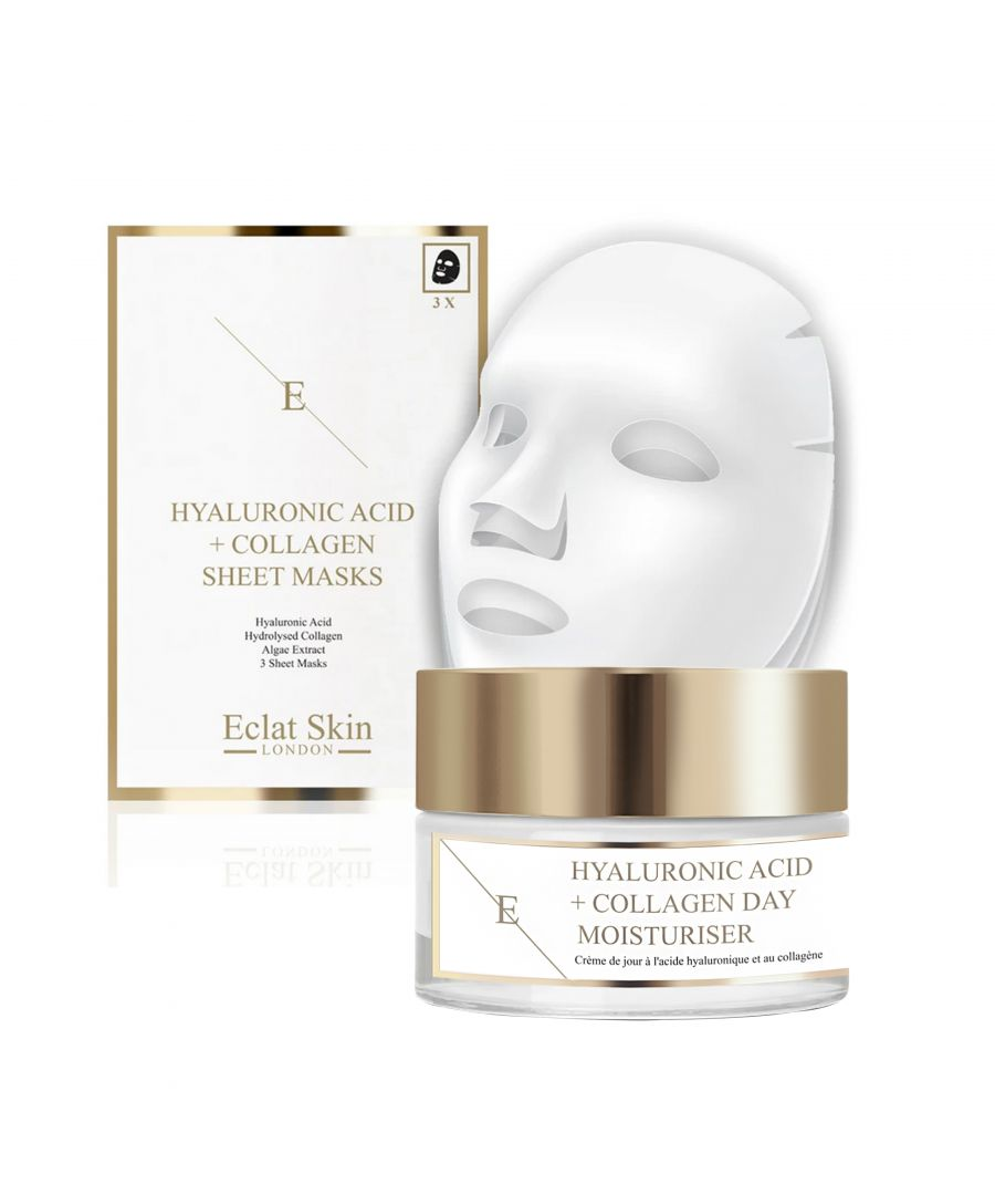 Image for Hyaluronic Acid & Collagen Amino Acids Day Cream + Hyaluronic Acid & Collagen Mask - 3 Sheets