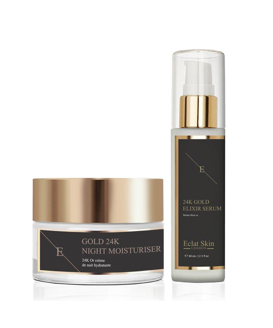 Image for Anti-Wrinkle Elixir Serum 24K Gold + Anti-Wrinkle Night Moisturiser 24K Gold