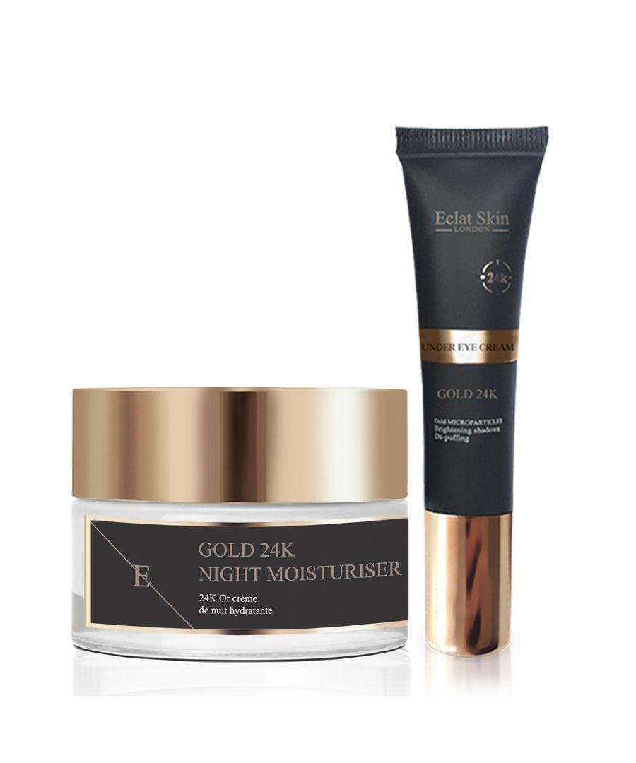 Image for Anti-Wrinkle Night Moisturiser 24K Gold + Under Eye Cream 24K Gold