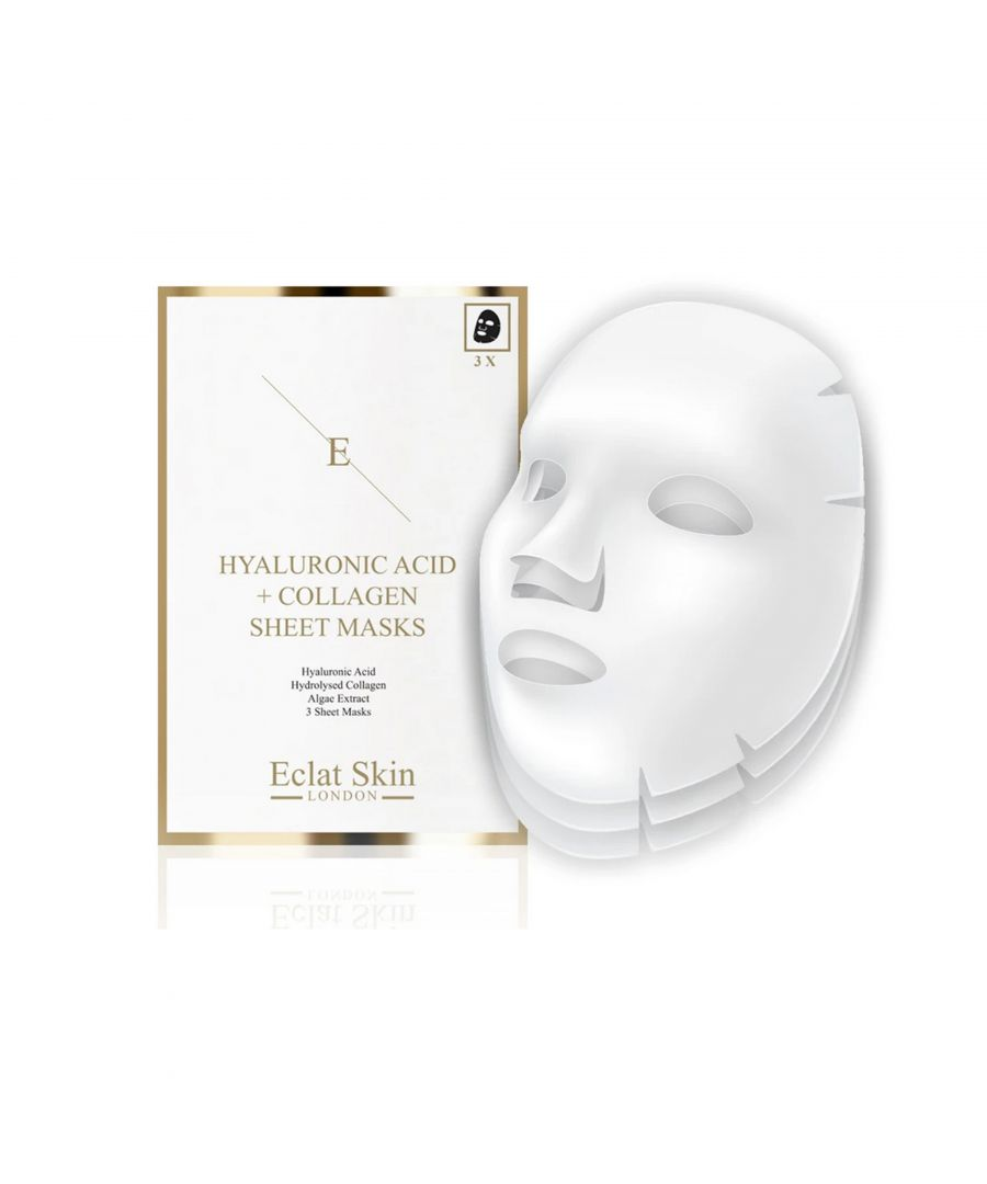 Image for Hyaluronic Acid & Collagen Mask - 3 sheets
