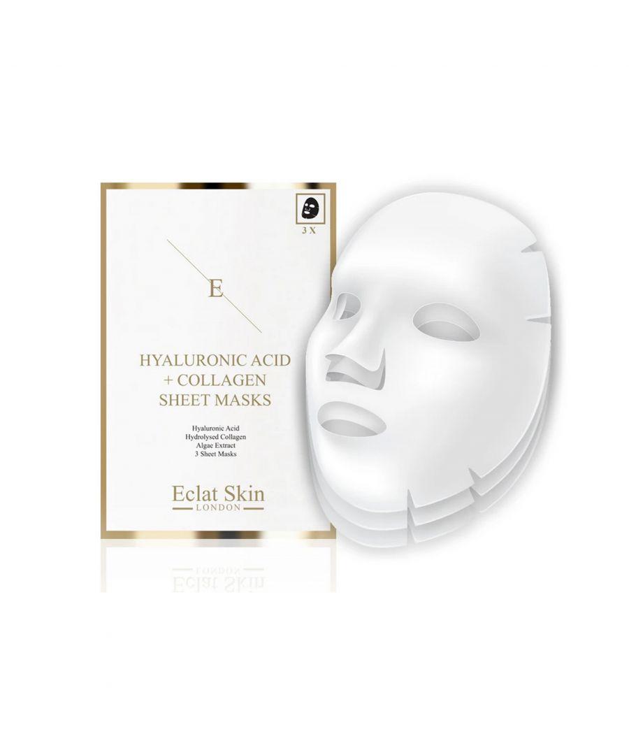 Image for Hyaluronic Acid & Collagen Mask - 3 sheets