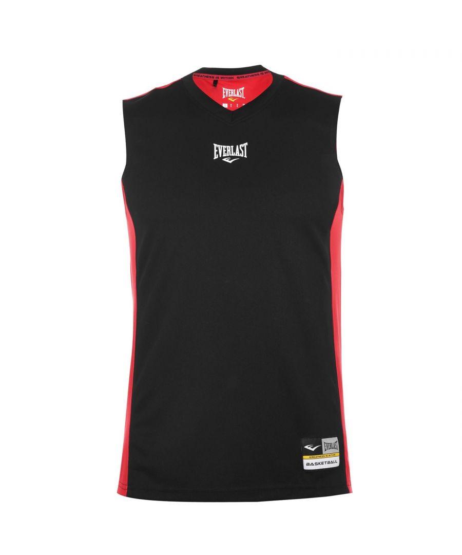 Image for Everlast Mens Basketball Jersey V Neck Sleeveless Sports Training Athletic Top
