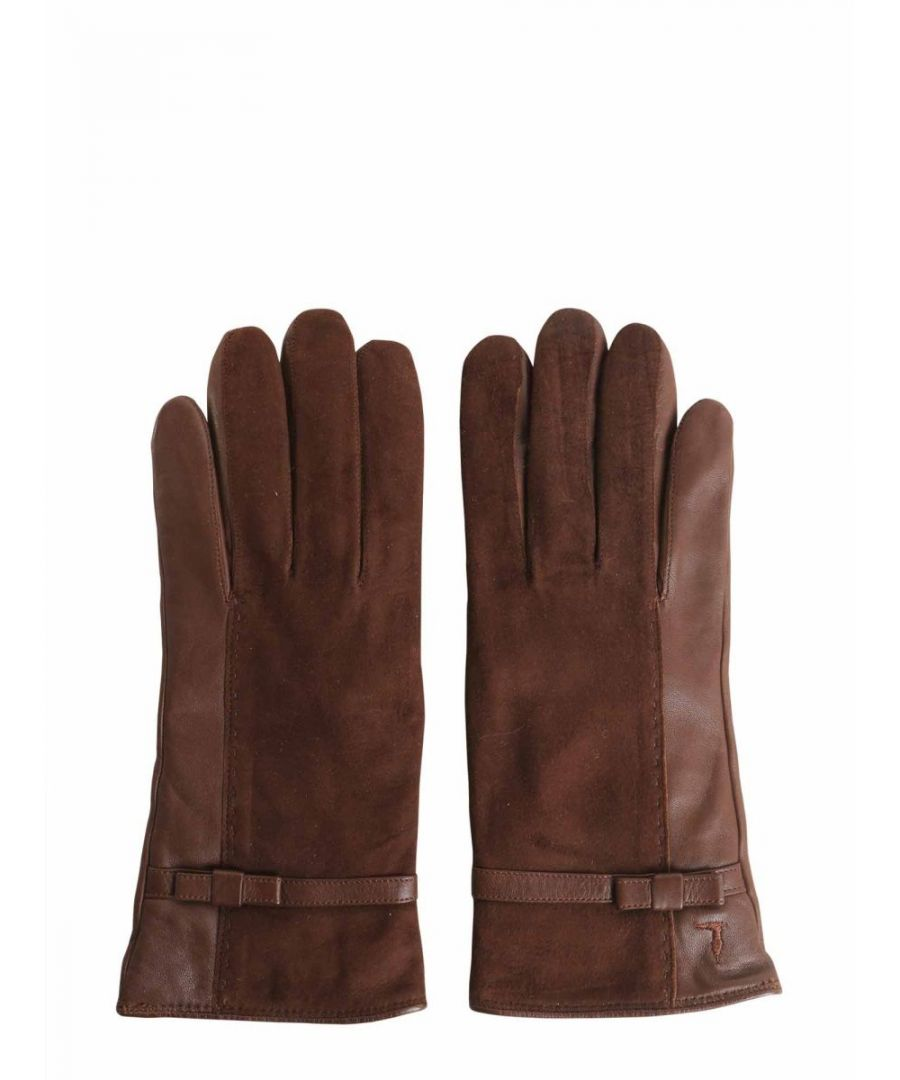 Image for TRUSSARDI WOMEN'S 569604262 BROWN LEATHER GLOVES