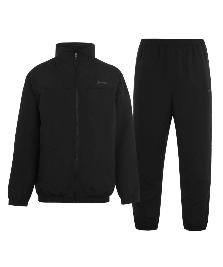Image for Slazenger Mens Woven Tracksuit Set Long Sleeve Zip Lightweight Top Bottoms