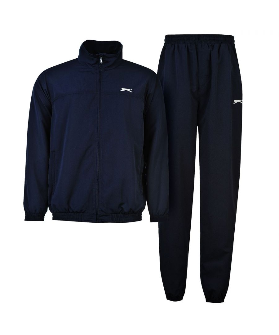 Image for Slazenger Mens Woven Suit Tracksuit Long Sleeve Zip Top and Bottoms Set