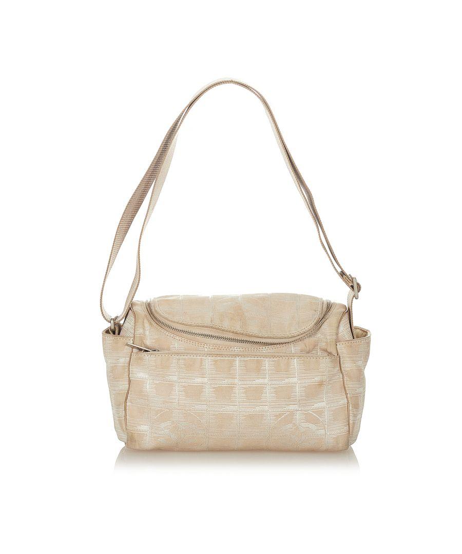 Image for Vintage Chanel New Travel Line Nylon Crossbody Bag Brown