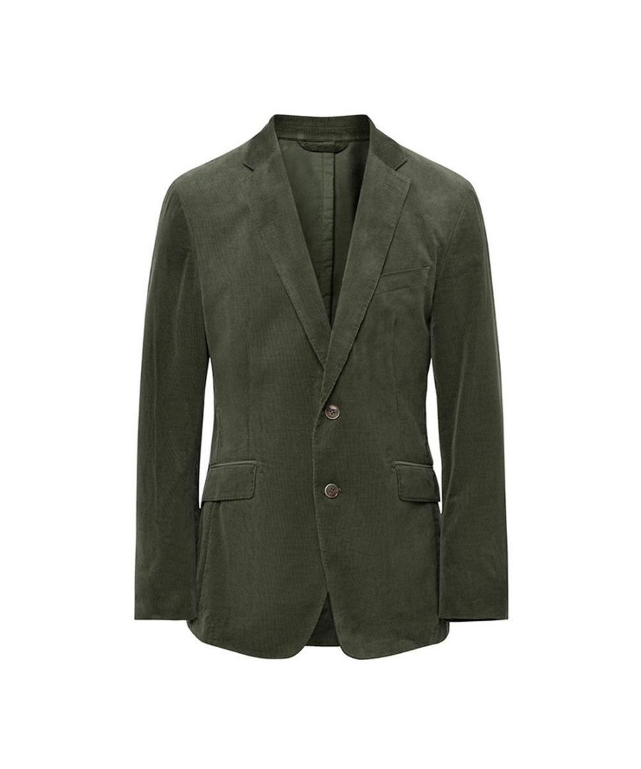 Image for Men's Hackett, Stretch Cotton Cord Jacket in Green