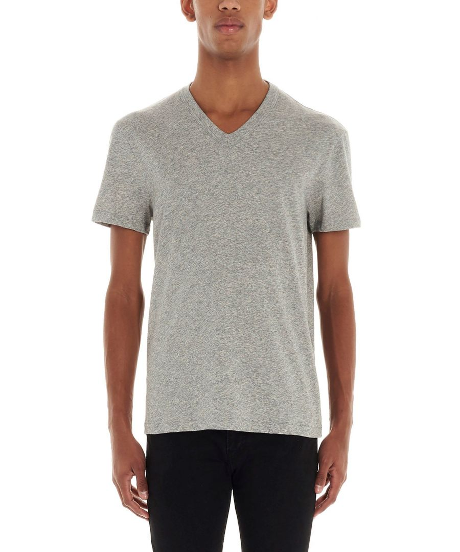 Image for TOM FORD MEN'S BU402TFJ894K04 GREY COTTON T-SHIRT