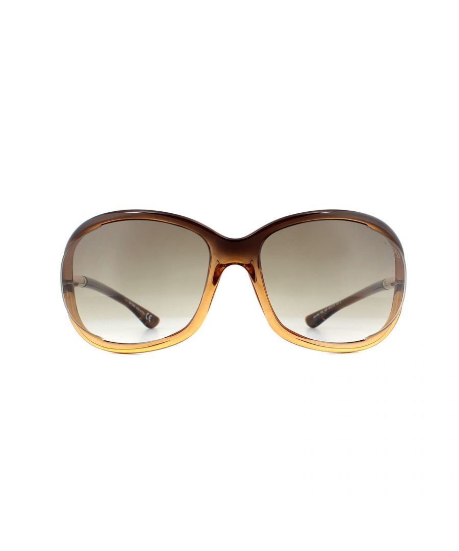 Image for Tom Ford Sunglasses 0008 Jennifer 50F Dark Brown Fade Brown Gradient