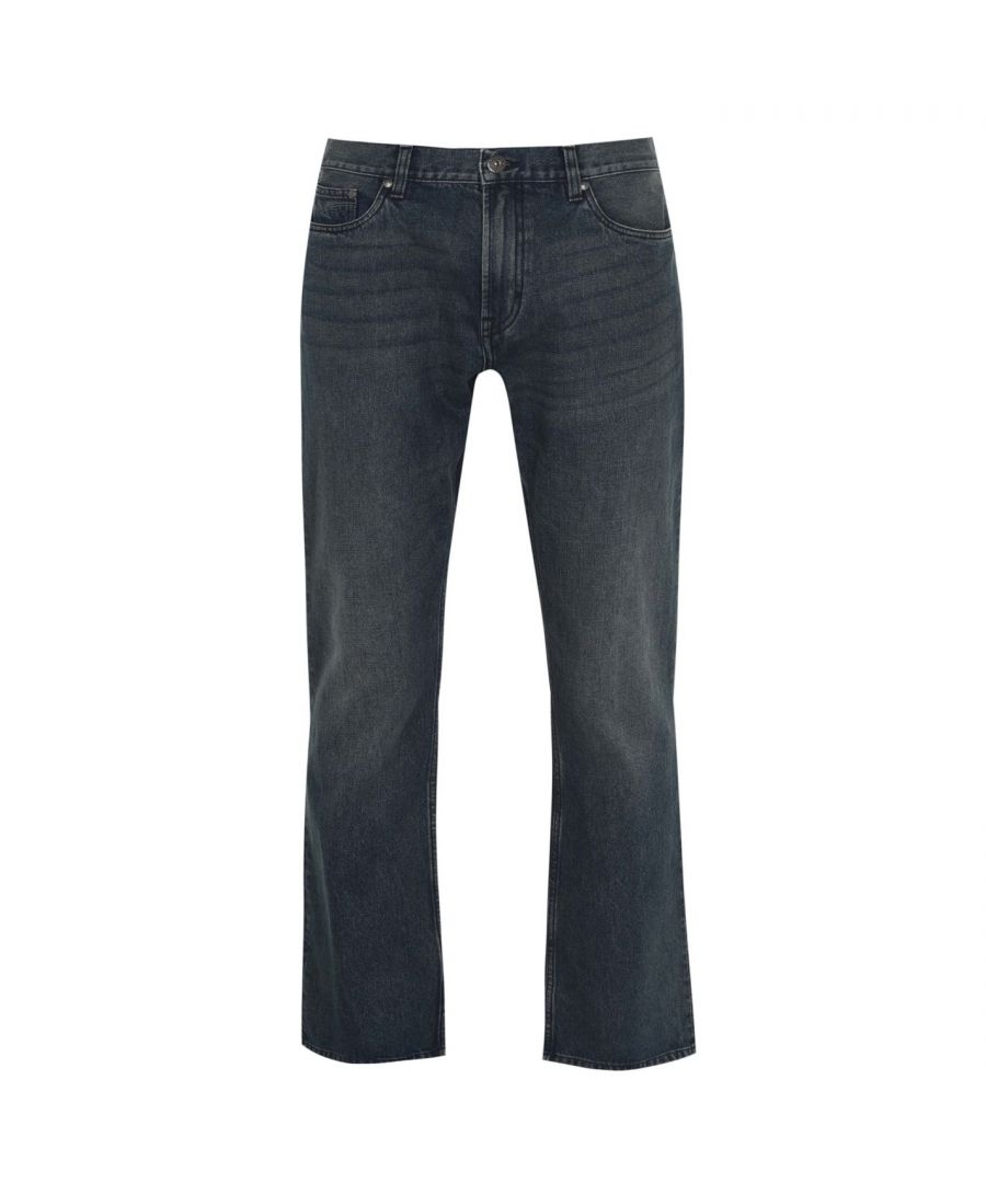 Image for Firetrap Men Tokyo Jeans Trousers Pants Bottom Denims Bootcut Fit Casual Zip Fly