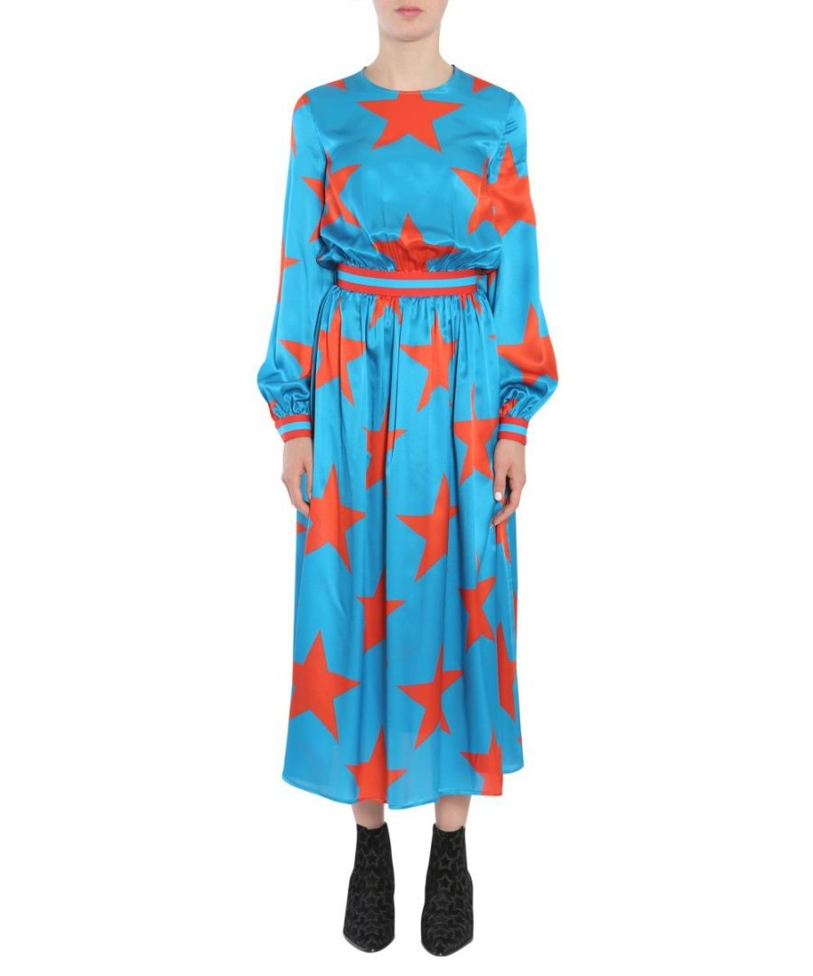 Image for MSGM WOMEN'S 2342MDA13517486683 LIGHT BLUE SILK DRESS