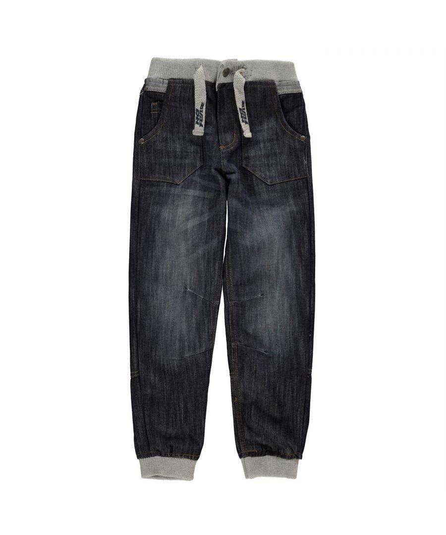 Image for No Fear Kids Jog Jeans Junior Trousers Pants Bottoms Denims 2 Pockets