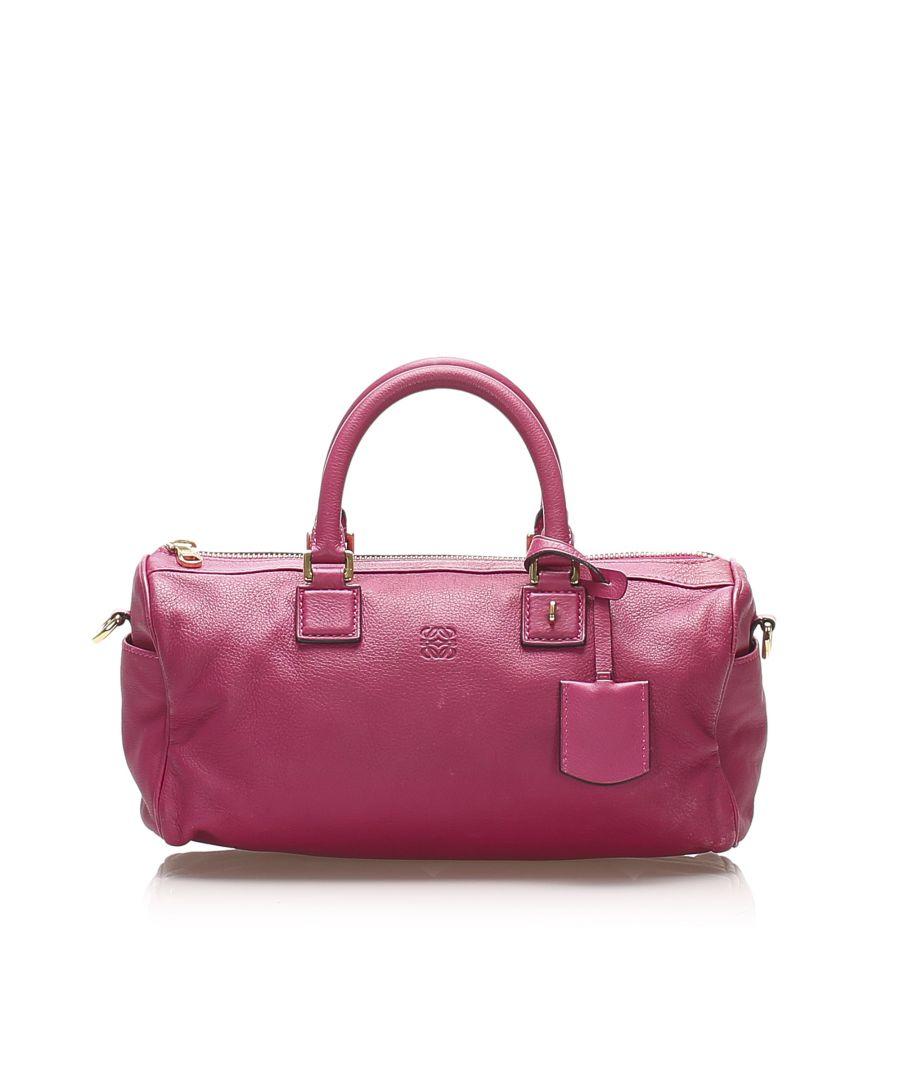 Image for Vintage Loewe Anagram Leather Satchel Pink