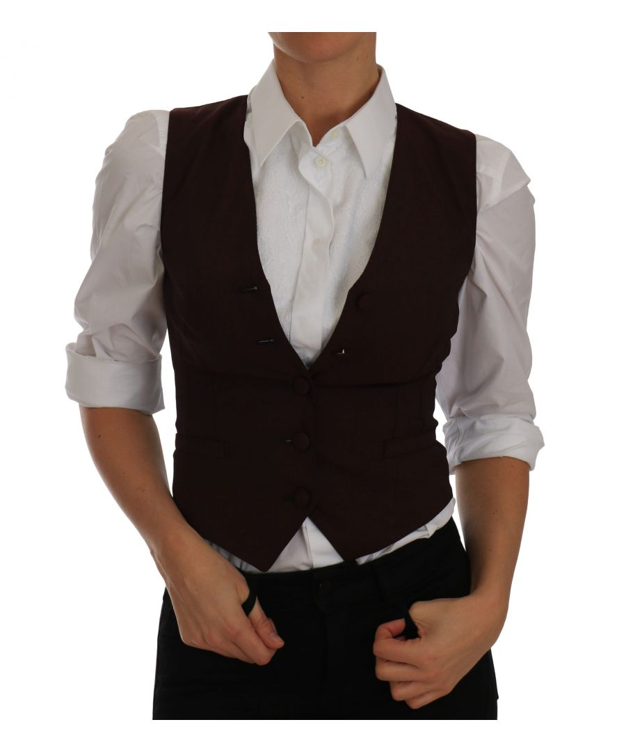 Image for Dolce & Gabbana Purple Polka Waistcoat Vest  Tank