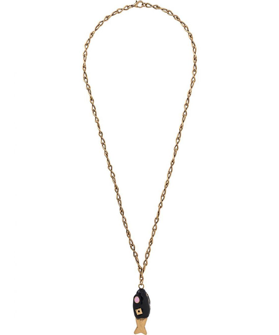Image for MARNI WOMEN'S COMV0165A0M200000N99 BLACK METAL NECKLACE
