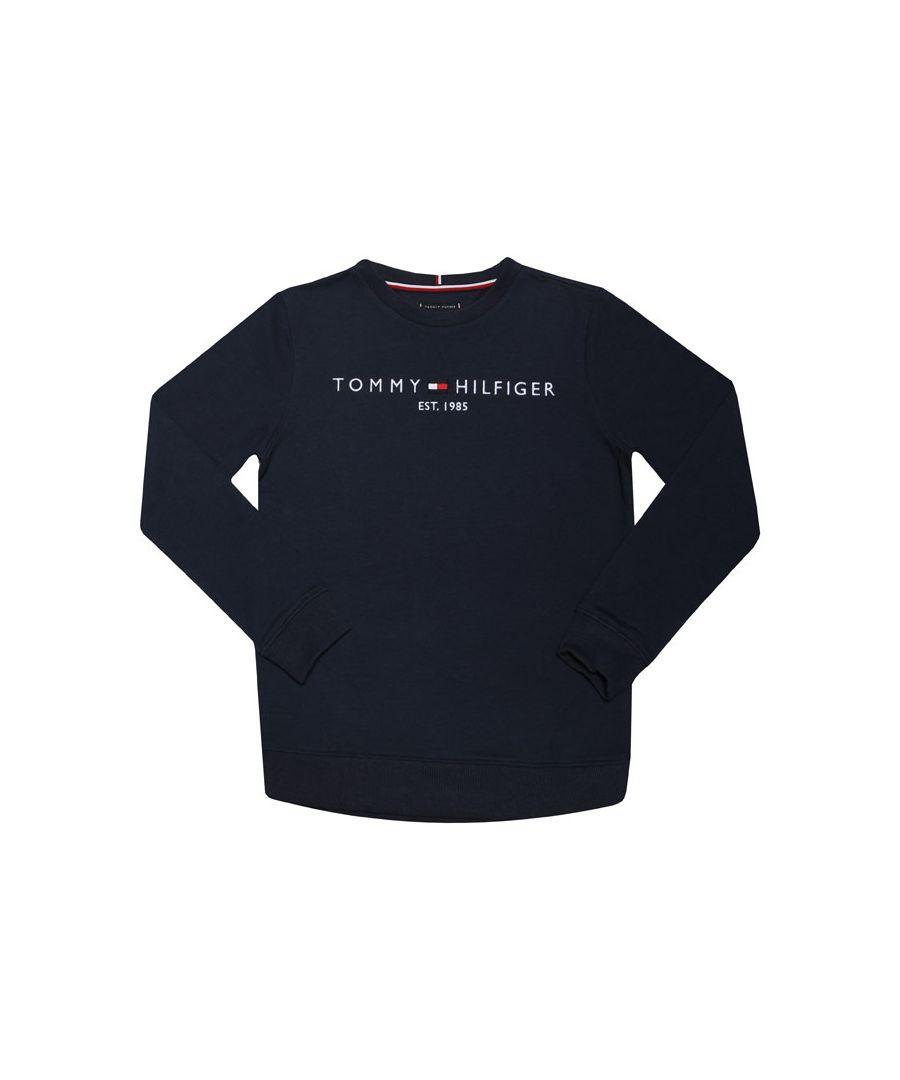 Image for Boys' Tommy Hilfiger Junior Essential Logo Sweatshirt In Navy