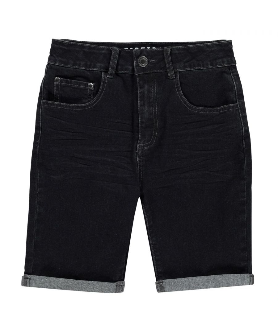 Image for Firetrap Boys Denim Shorts Zip Fly Stitched Detail Comfortable 5 Pockets Bottom
