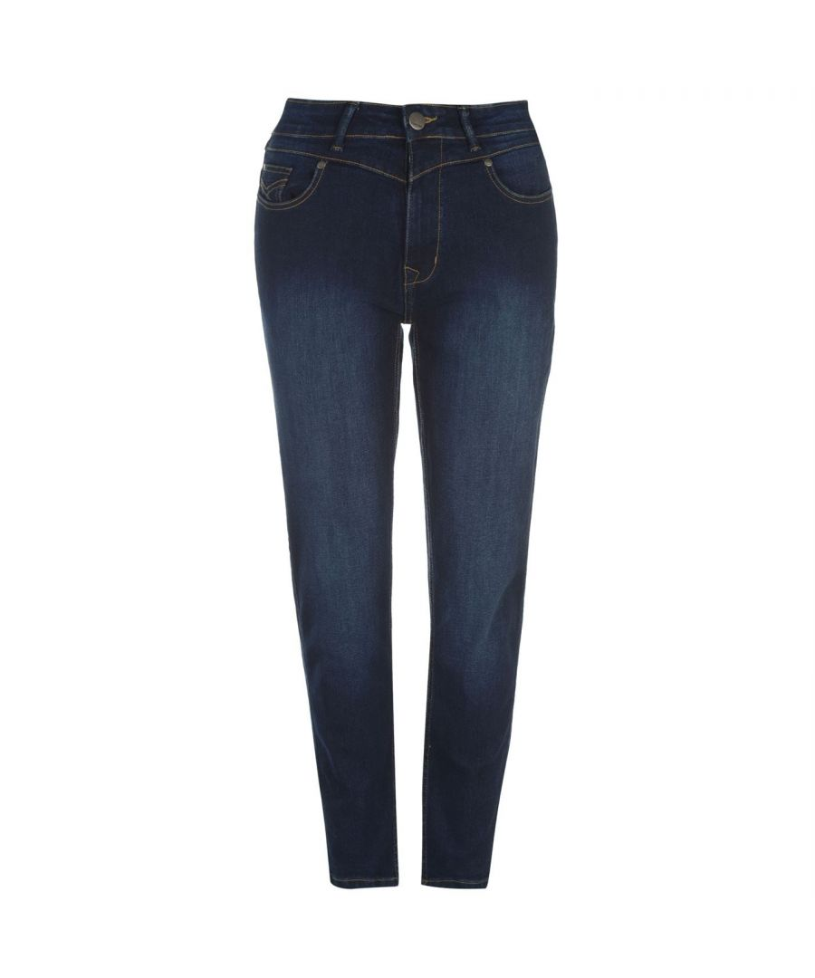 Image for Firetrap Womens Mom Jeans Trousers Bottoms Pants Ladies Five Pockets Design