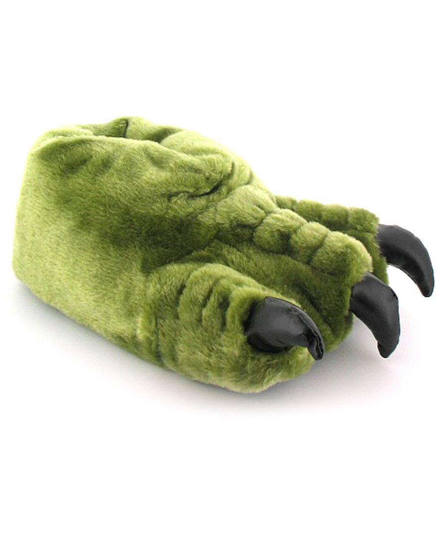 Image for New Boys/Childrens Green Novelty Monster Claw Slippers Gift Ideas