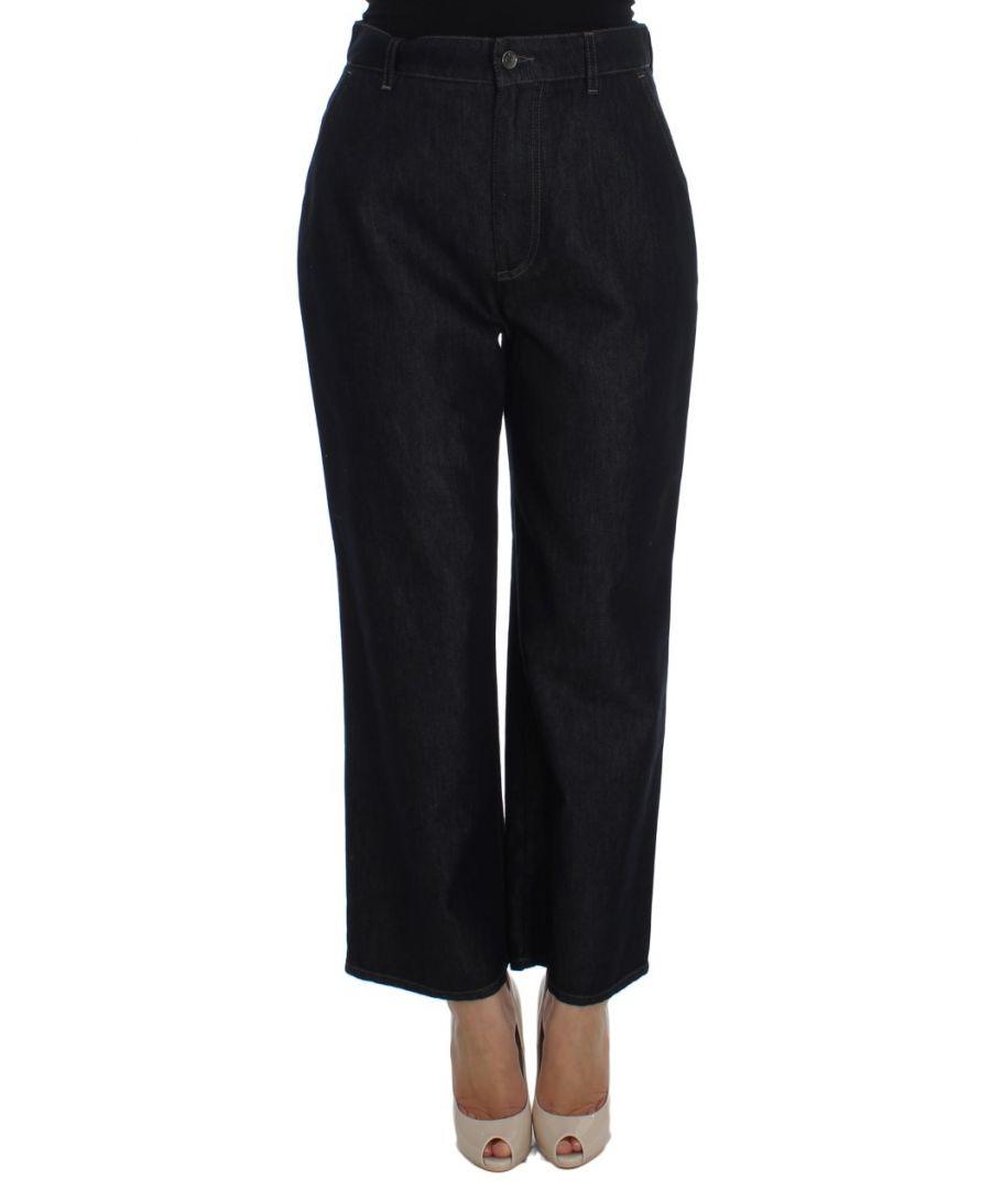 Image for Dolce & Gabbana Blue Cotton Silk Blend Flare Jeans