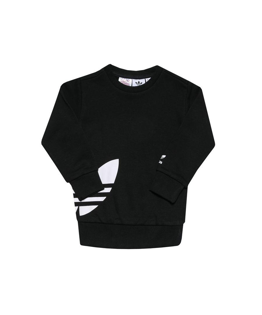 Image for Boys' adidas Originals Infant Big Trefoil Crew Set Black-White