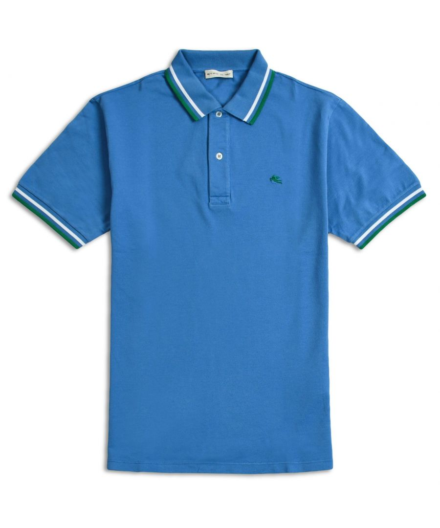 Image for ETRO MEN'S 1Y8059249251 LIGHT BLUE COTTON POLO SHIRT