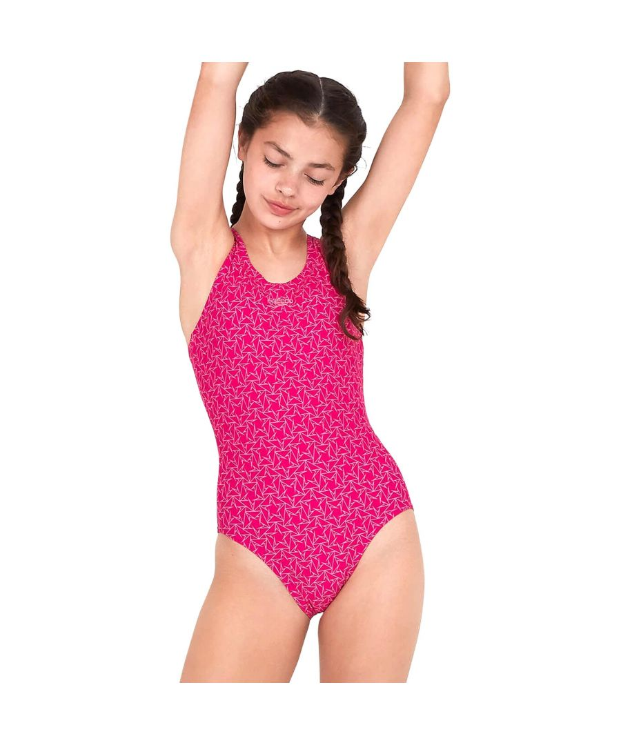 Image for Speedo Boomstar Muscleback Girls Swimsuit Pink - 5-6 Years