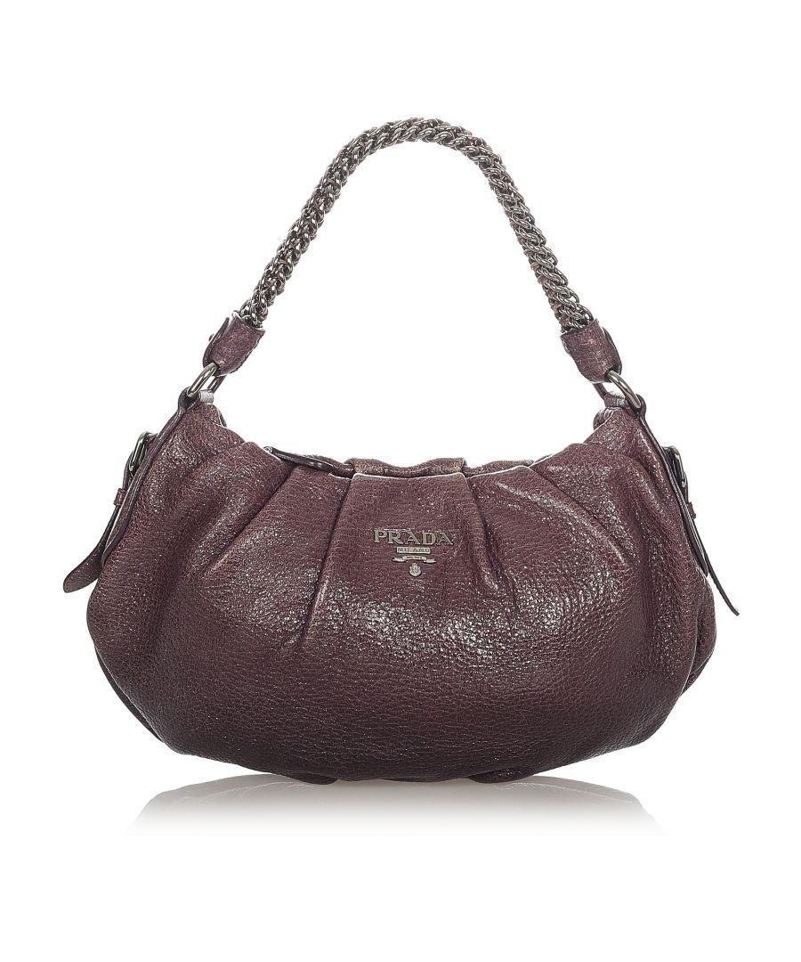 Image for Vintage Prada Cervo Lux Shoulder Bag Brown