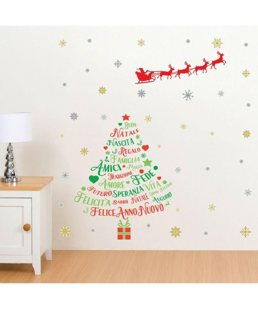 Image for WFXC6304 - COM - WS4025 + WS3323 - Italian Quotes Santa's sleigh Christmas Tree