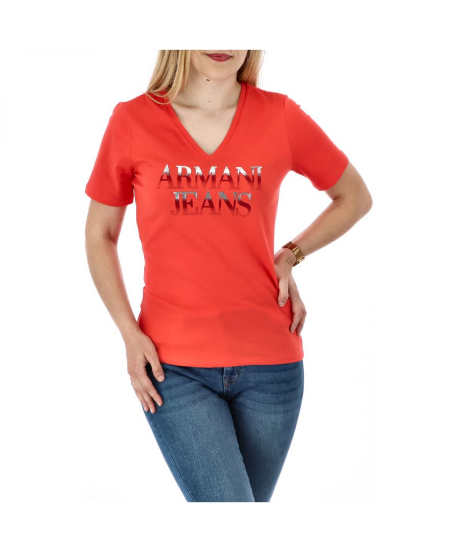 Image for Armani Jeans Women's T-Shirt In Coral