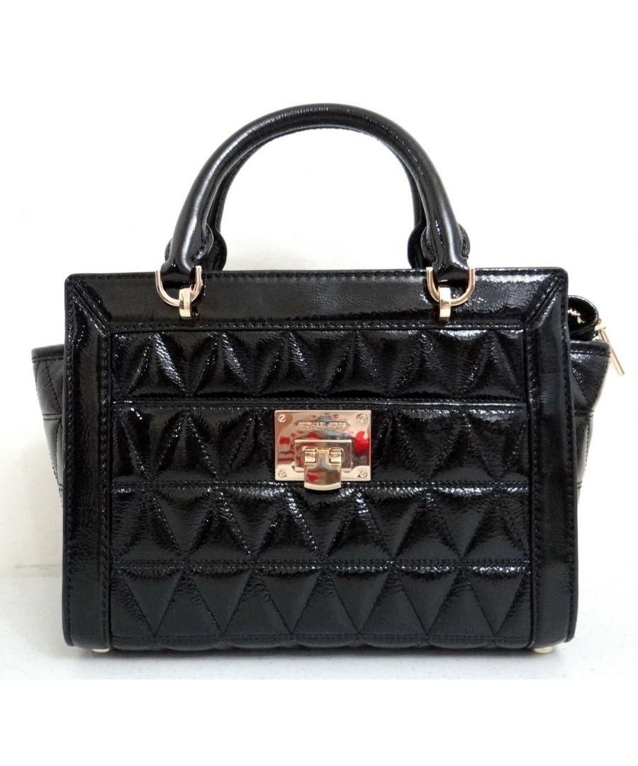 Image for Michael Kors Vivianne Small Patent Leather Satchel Messenger Bag