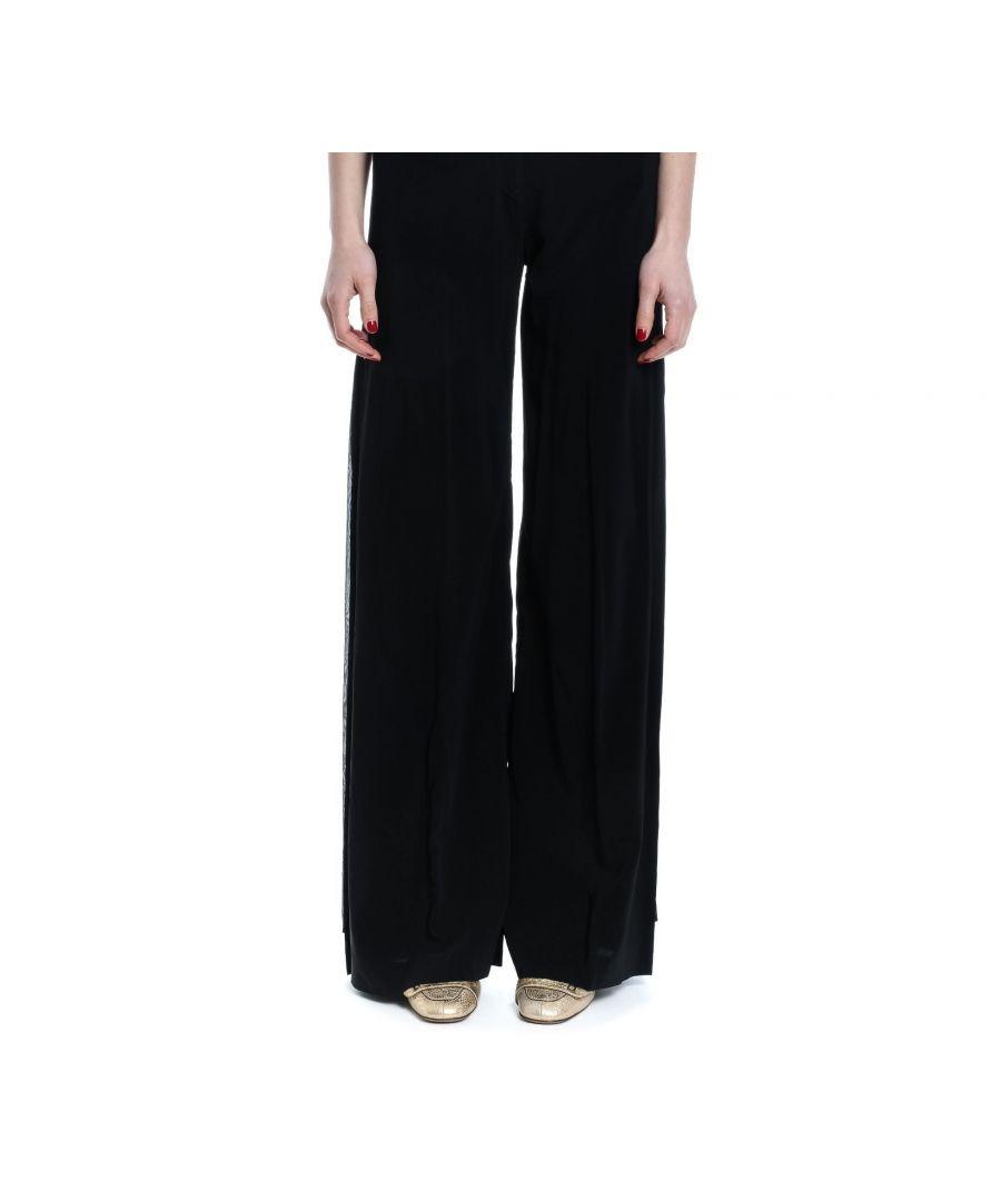 Image for JUCCA WOMEN'S J2914000003 BLACK VISCOSE PANTS