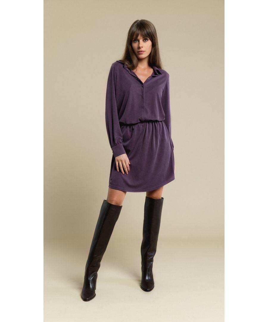 Image for Sophia Pastel Plum Dress