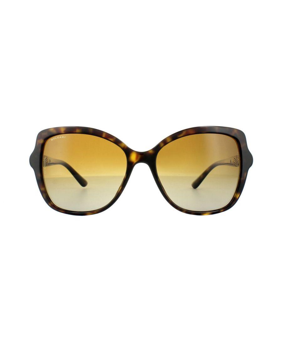 Image for Bvlgari Sunglasses 8174B 504/T5 Dark Havana Brown Gradient Polarized