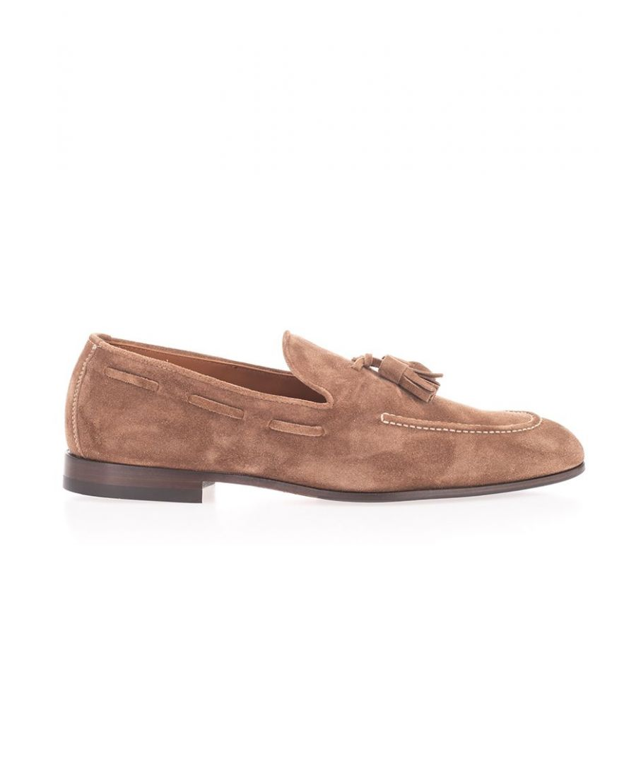 Image for BRUNELLO CUCINELLI MEN'S MZUCCLZ873C7653 BROWN LEATHER LOAFERS