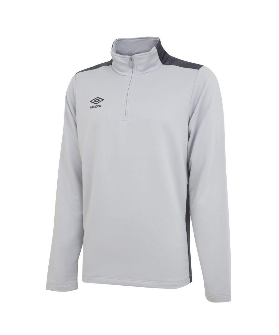 Image for Umbro Boys Half Zip Sweatshirt (High Rise Grey/Carbon Grey)