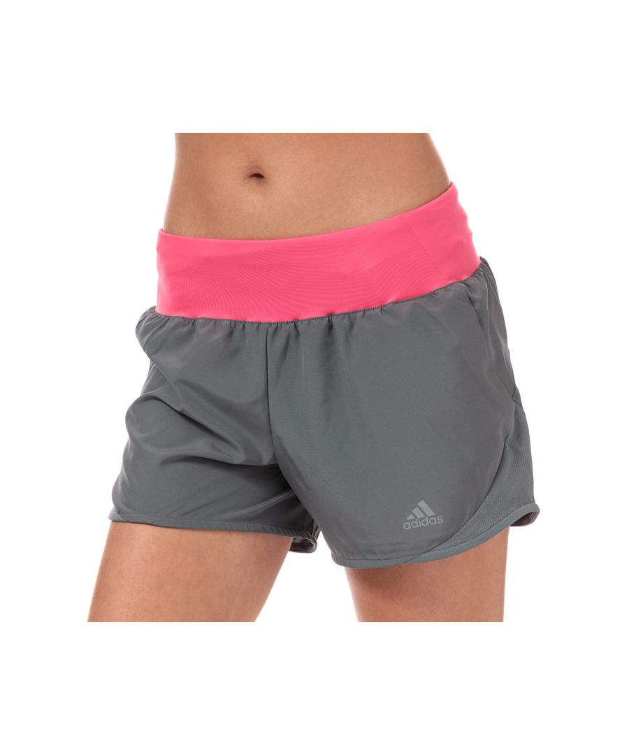 Image for Women's adidas Run It 4 Inch Shorts in Grey pink