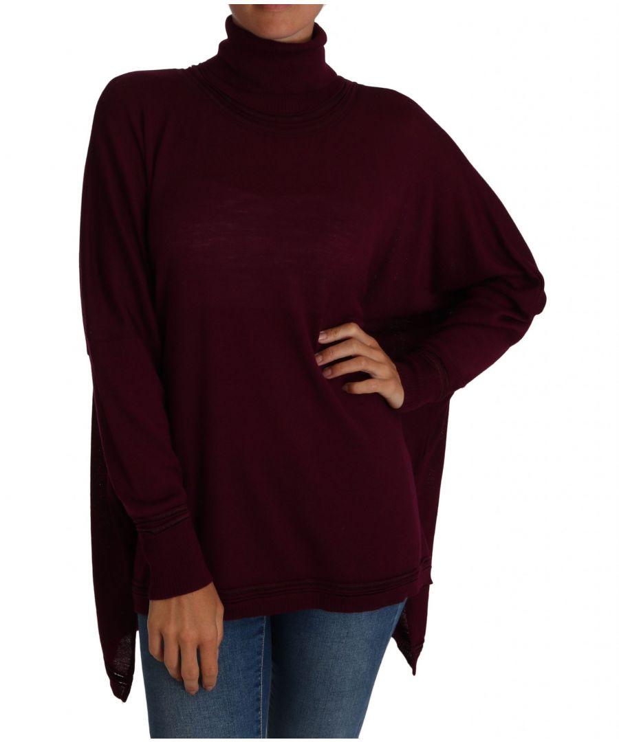 Image for Cavalli Purple Jumper Turtleneck Polo Sweater