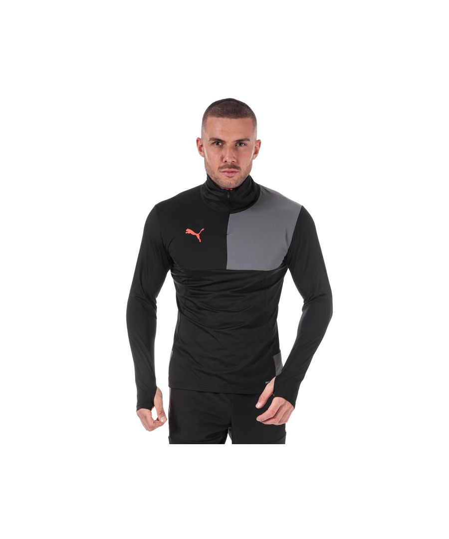 Image for Men's Puma ftblNXT Quarter Zip Top in Black Grey