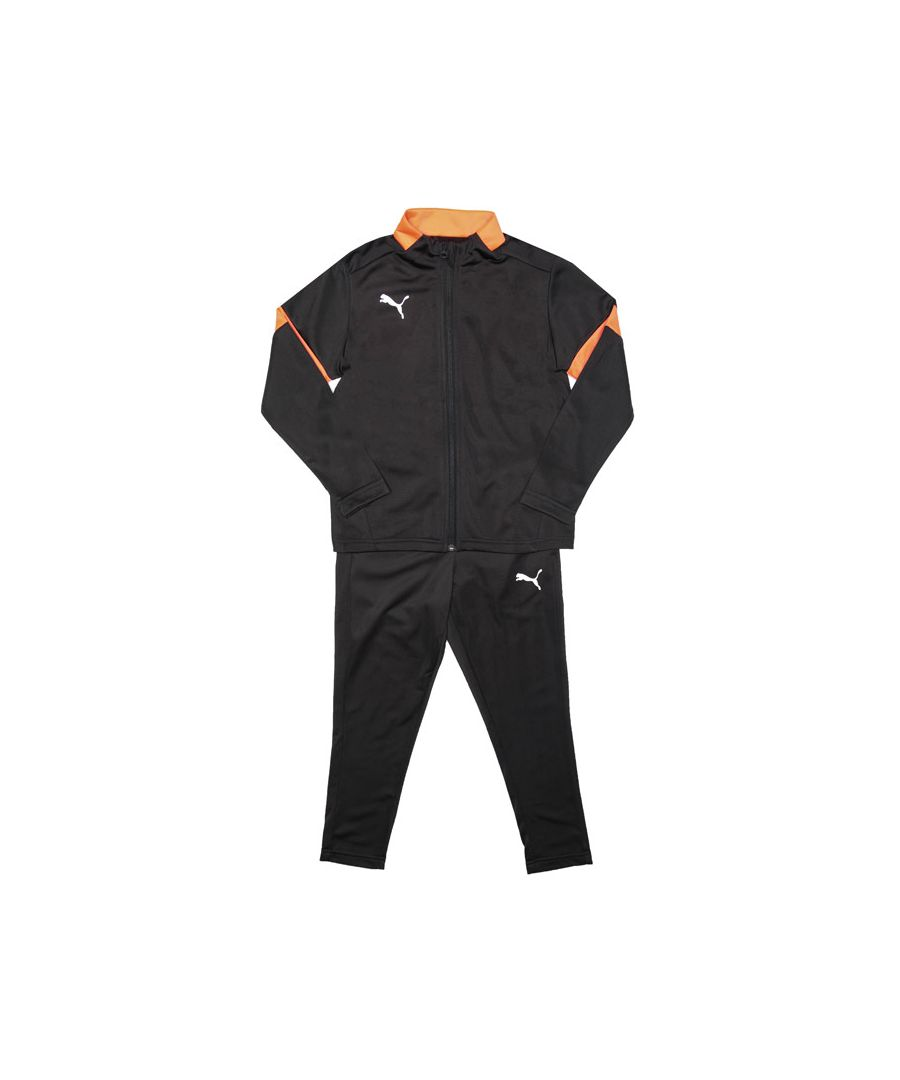 Image for Boy's Puma Junior ftblPLAY Tracksuit in Black