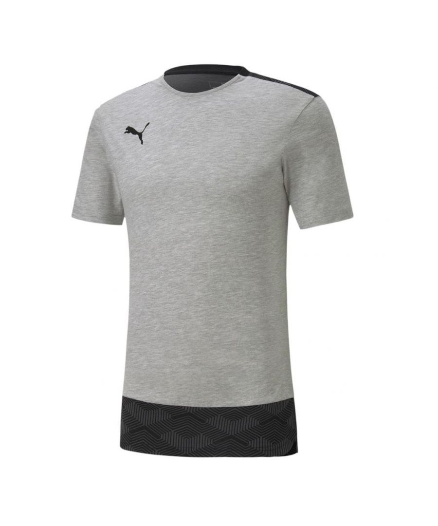 Image for Puma Team Final 21 Casuals Mens T-Shirt Grey - L
